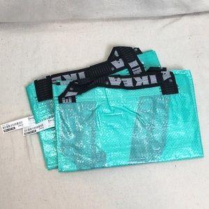 Lot of 2 turquoise Ikea Slukis large Shopping Bags